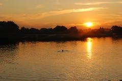 Por do sol: nascer do sol Fotografia de Stock