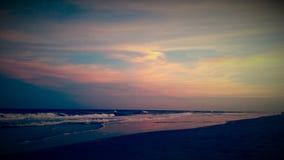 Por do sol Nc da praia Fotos de Stock Royalty Free