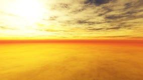 Por do sol nebuloso 2 Imagem de Stock
