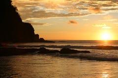 Por do sol Nicarágua Fotografia de Stock