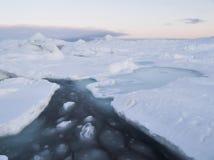 Por do sol no ártico Imagem de Stock Royalty Free
