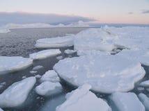 Por do sol no ártico Fotografia de Stock