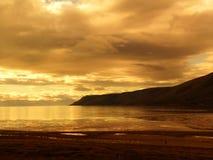 Por do sol no ártico Fotos de Stock Royalty Free