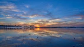Por do sol no alifornia do ¡ de Ð, San Diego fotografia de stock royalty free