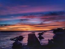 Por do sol no amor do por do sol dos EUA Califórnia imagem de stock royalty free