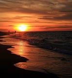 Por do sol no bacalhau de cabo Fotografia de Stock