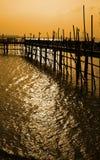 Por do sol no Broadwalk imagem de stock royalty free