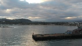 Por do sol no cais Santa Barbara California de Stearns filme