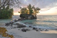 Por do sol no console de Pemba, Zanzibar fotografia de stock