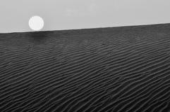 Por do sol no deserto Foto de Stock Royalty Free
