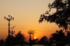 Por do sol no Extremo Oriente imagens de stock