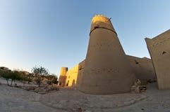 Por do sol no forte de Al Masmak em Riyadh imagens de stock