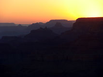 Por do sol no Grand Canyon Imagem de Stock Royalty Free