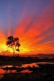 Por do sol no krabi Imagem de Stock Royalty Free