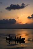 Por do sol no lago de Valença Fotos de Stock