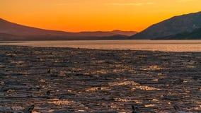 Por do sol no lago spirit em Washington State Fotografia de Stock Royalty Free