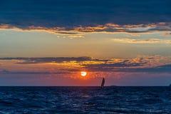 Por do sol no lago superior Imagem de Stock Royalty Free