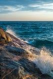 Por do sol no lago superior Imagens de Stock Royalty Free