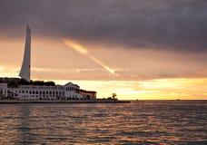 Por do sol no louro de Sevastopol em Crimeia Imagem de Stock Royalty Free