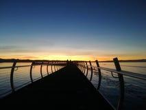 Por do sol no mar foto de stock royalty free