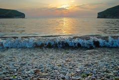 Por do sol no mar. fotos de stock royalty free