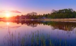 Por do sol no mar Báltico Fotografia de Stock Royalty Free
