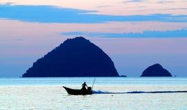 Por do sol no mar chinês Imagem de Stock Royalty Free