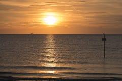 Por do sol no mar de adriático Foto de Stock Royalty Free