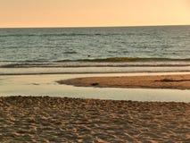 Por do sol no Mar do Norte Foto de Stock Royalty Free