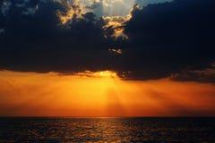 Por do sol no Mar Negro Imagens de Stock Royalty Free