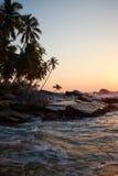 Por do sol no oceano, imagens de stock royalty free