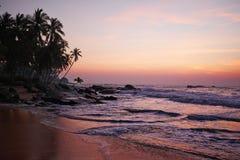 Por do sol no oceano, imagem de stock royalty free