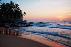 Por do sol no oceano, fotografia de stock royalty free