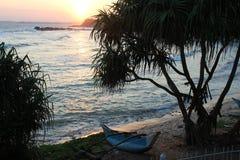 Por do sol no oceano Imagens de Stock Royalty Free