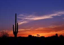 Por do sol no oeste selvagem Fotografia de Stock Royalty Free