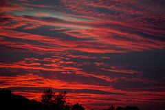 Por do sol no outono de Praga Imagens de Stock Royalty Free