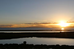 Por do sol no Pacífico Foto de Stock