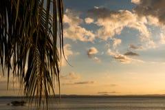 Por do sol no paraíso Imagem de Stock