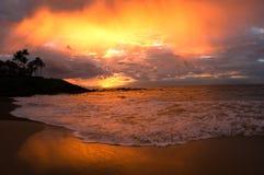 Por do sol no paraíso Foto de Stock