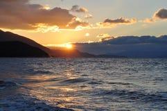 Por do sol no paraíso Imagens de Stock Royalty Free