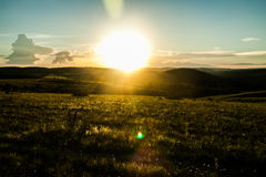 Por do sol no paraíso Imagens de Stock