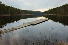 Por do sol no parque nacional Fotografia de Stock