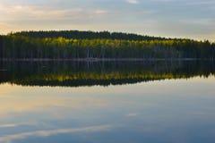 Por do sol no parque nacional Imagens de Stock Royalty Free