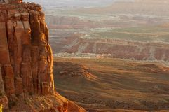 Por do sol no parque nacional de Canyonlands Imagem de Stock Royalty Free
