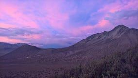 Por do sol no parque nacional de Sajama - Bolívia Fotografia de Stock Royalty Free