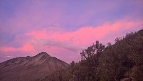 Por do sol no parque nacional de Sajama - Bolívia Fotos de Stock