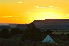 Por do sol no parque nacional de Zion imagem de stock royalty free