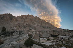 Por do sol no parque nacional dos reis Garganta Fotografia de Stock Royalty Free