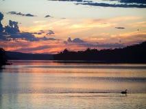 Por do sol no pescoço de Eaglehawk, península de Tasman imagem de stock royalty free