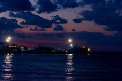 Por do sol no porto de Bursa Fotografia de Stock Royalty Free